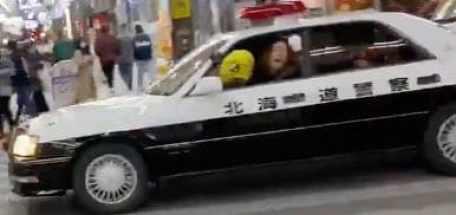 北海道狸小路パトカー盗難