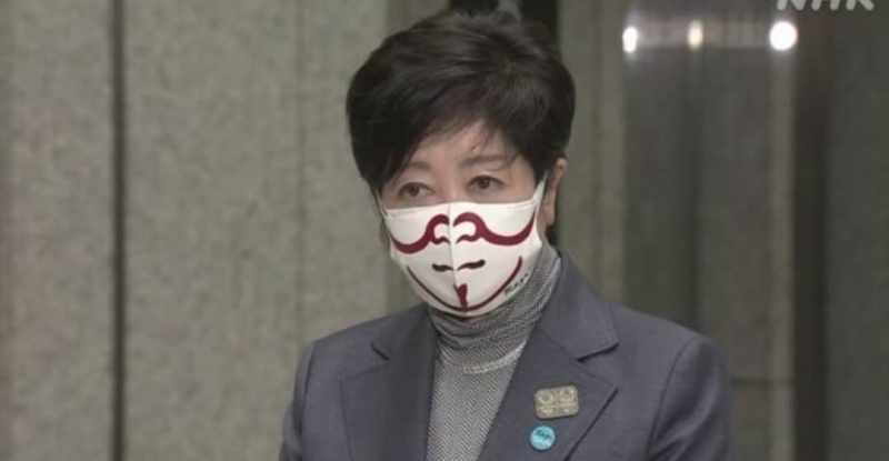 小池百合子歌舞伎マスク
