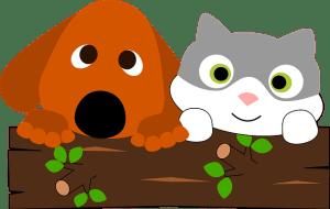 犬と猫イラスト