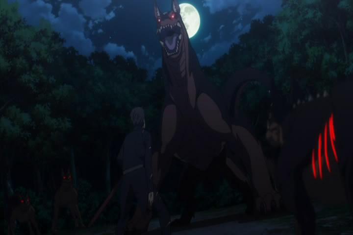 巨大化した魔獣と相対する スバル