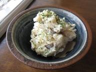 石垣島のカフェ&カレー「トラベラーズカフェ朔」のキノコ入りポテトサラダ