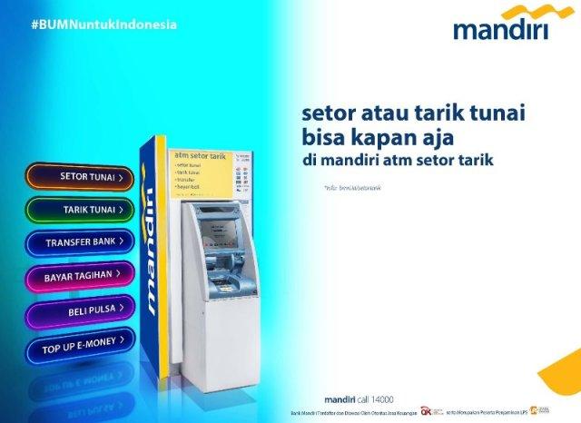 Cara Setor Tunai di ATM Mandiri