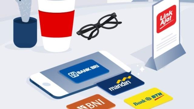 Tarik Tunai LinkAJa di ATM BRI, Mandiri, BNI dan BTN