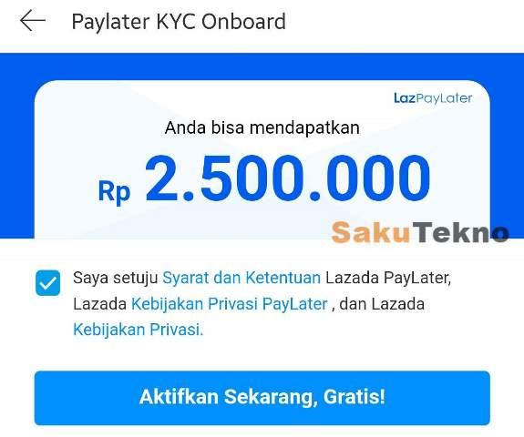 Cara Aktifkan Lazada PayLater