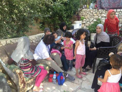 First day of the mission, humanitarian work with the children