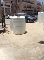 Water tanks that will be installed on Thursday at the camp - we just bought them.
