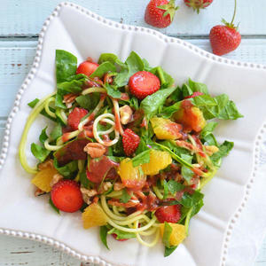 spiralized strawberry salad