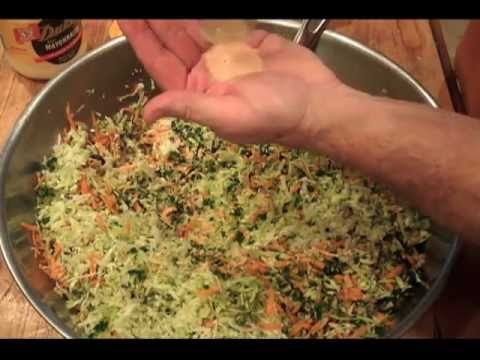 COLE SLAW Cabbage Salad Recipe – Sugar Gluten free – Carrot Onion Kale cook out tutorial vegan