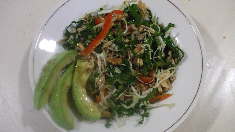 Cancer Preventing, Fat Burning, Vegan Kale and Cabbage Salad