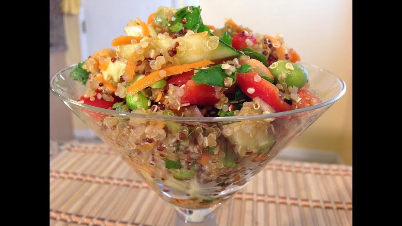 How To Asian Quinoa Salad & Dressing-Vegan Food Recipes