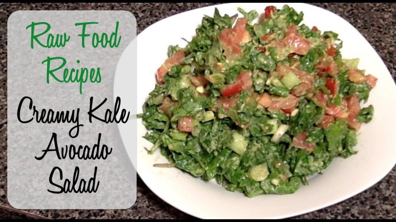 Kale Salad Recipe – Creamy Avocado – Vegan, Raw Food, & Gluten Free