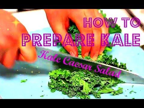 How To Prepare Kale: Raw Vegan Kale Caesar Salad