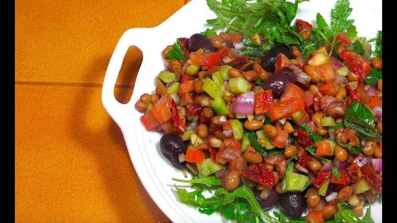 Italian Salad – Borlotti Bean Salad – Vegan Recipes – Bean salad – Easy Italian Salad Recipes