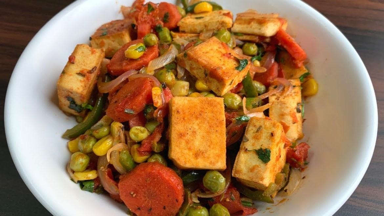 Healthy tofu with stir fried vegetables | Weight loss recipe | Diet recipe | Vegan recipe