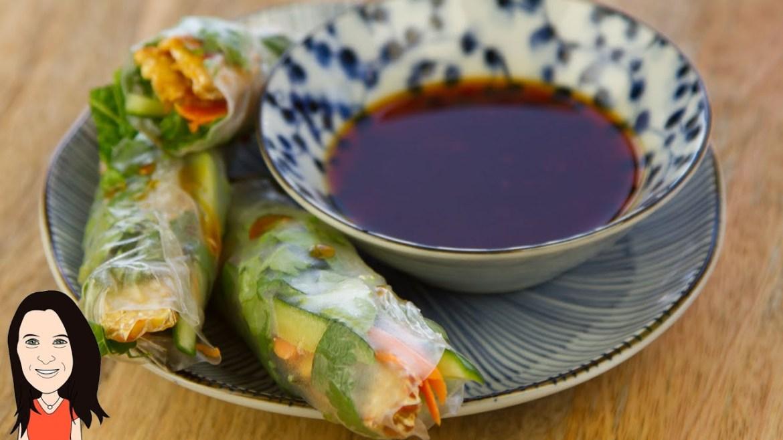 Vegan Rice Paper Spring Rolls with Asian Dipping Sauce – Gluten Free Recipe!