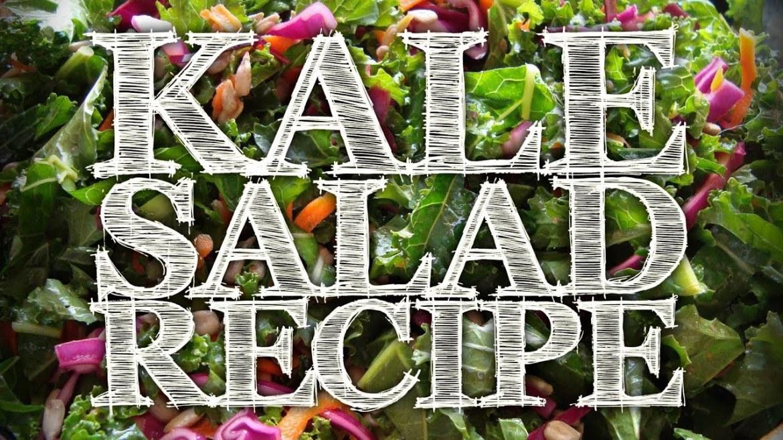 Raw Vegan Superfood Kale Salad Recipe & Nutrition Seminar