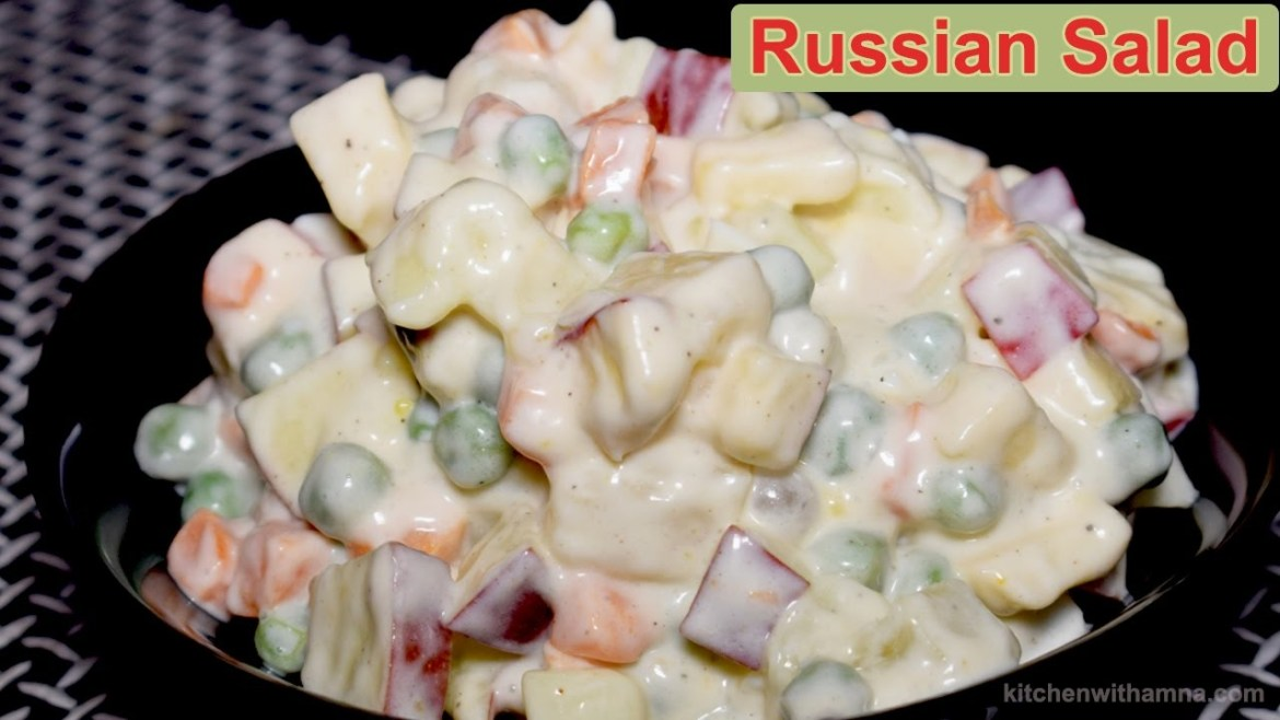 Russian Salad Recipe – Healthy Salad Recipe – Salad Recipe by Kitchen With Amna