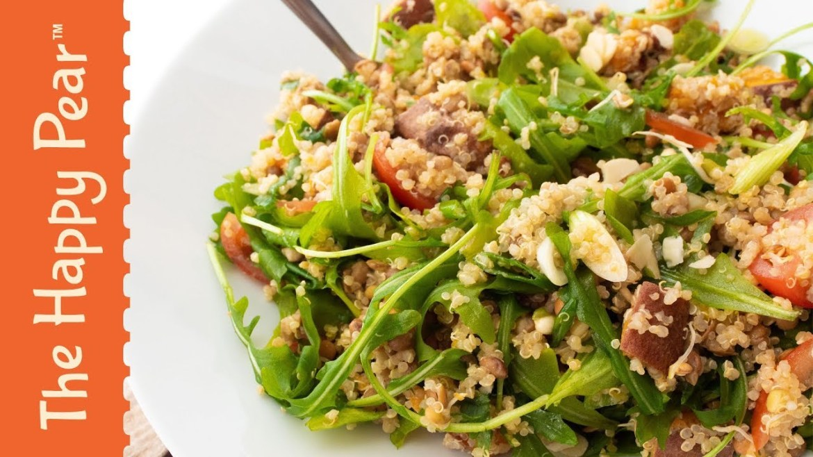 HIGH PROTEIN SALAD AND DRESSING | THE HAPPY PEAR