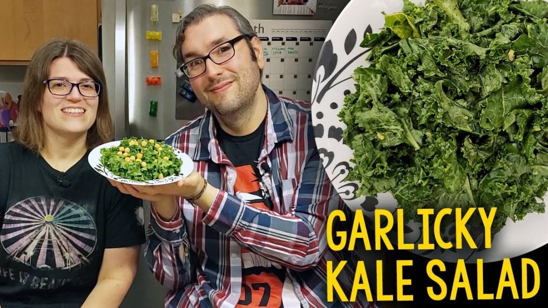 Recipe: Whole Foods Garlicky Kale Salad (Vegan, Oil-Free, Plant-Based)