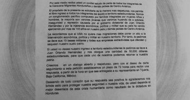 Integrantes de Caravana Migrante  exigen indemnización de 50 mil dólares para regresar a sus países