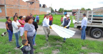 Apoya Sedesoh a familias afectadas por contingencia en Zacapu