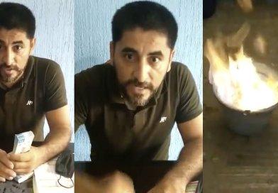 Maestro de Michoacán denuncia soborno y quema un millón de pesos