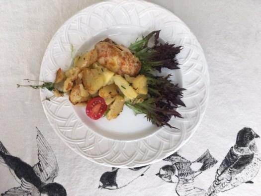 décorer assiette avec la laitue Cancan plat de résistance photo marie g