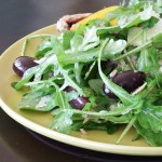 roquette with sardines and balsamic vinaigrette