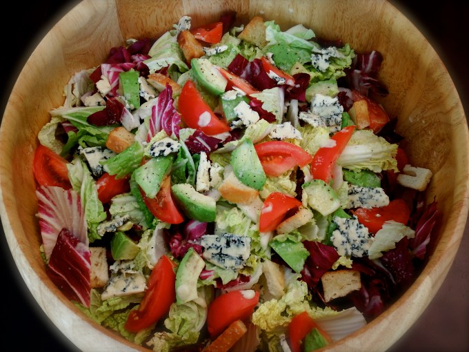 Avocado, Tomato & Blue Cheese With Savory Blue Cheese Dressing