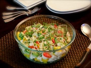 Jicama Salad With Mango, Avocado & Microgreens