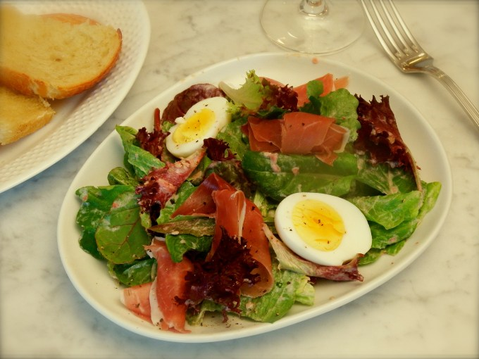 Prosciutto & Mixed Greens With Tomato Robiolina Cheese Dressing