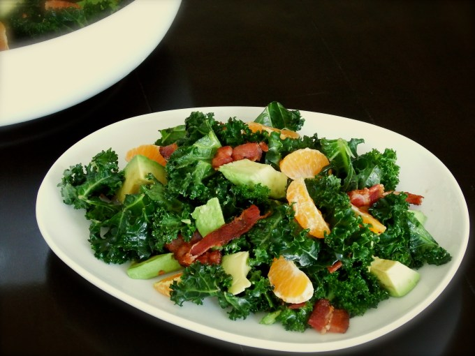 Kale, Clementines & Avocado With Bacon Clementine Vinaigrette