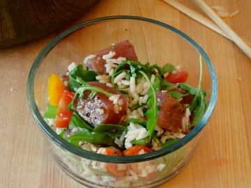 Sushi Salad With Wasabi Ginger Dressing