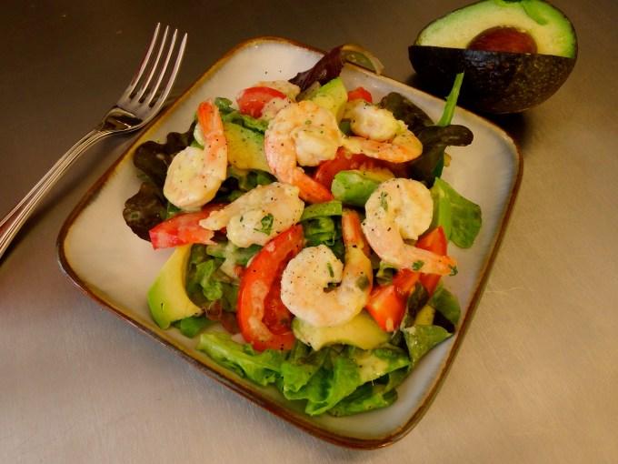 shrimp salad mango's ginger dressing