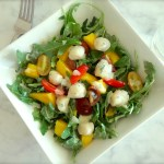 Arugula Scallops With Wrangler's Ranch Dressing