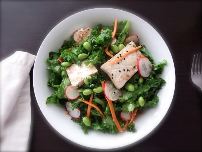 Asiana Salad with Seared Tofu and Sesame Vinaigrette