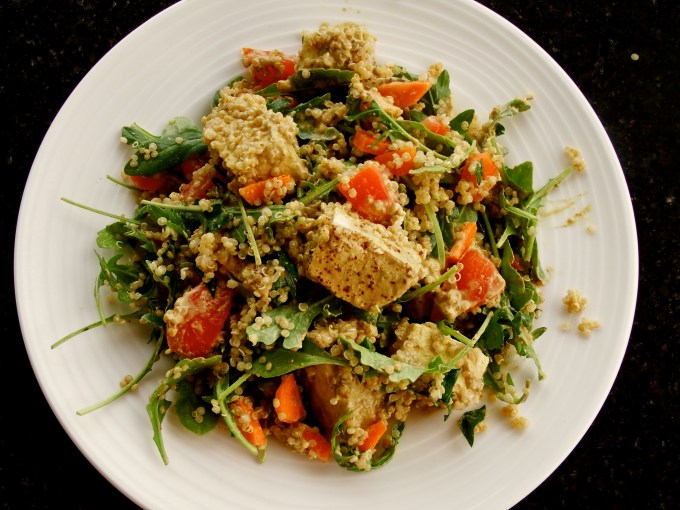 Tofu Quinoa Curry Salad