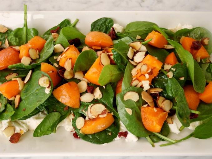fresh apricot and almond salad