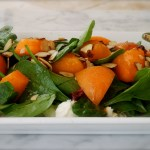 fresh apricot and almond salad