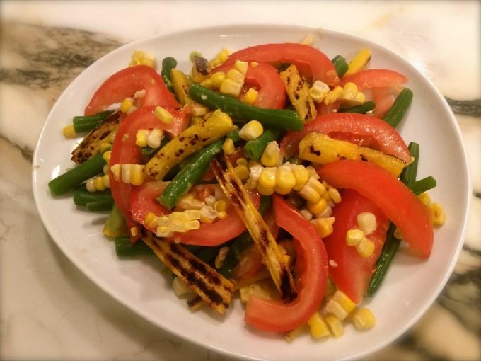 Green Beans & Grilled Veggies – Cilantro Parmesan Dressing