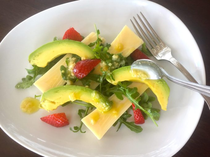 Avocado & Hearts of Palm Salad – Truffle My Feathers Dressing