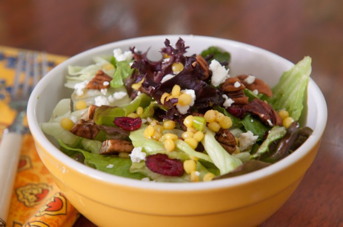 Mixed Lettuces, Israeli Couscous, Cranberries and Pecans