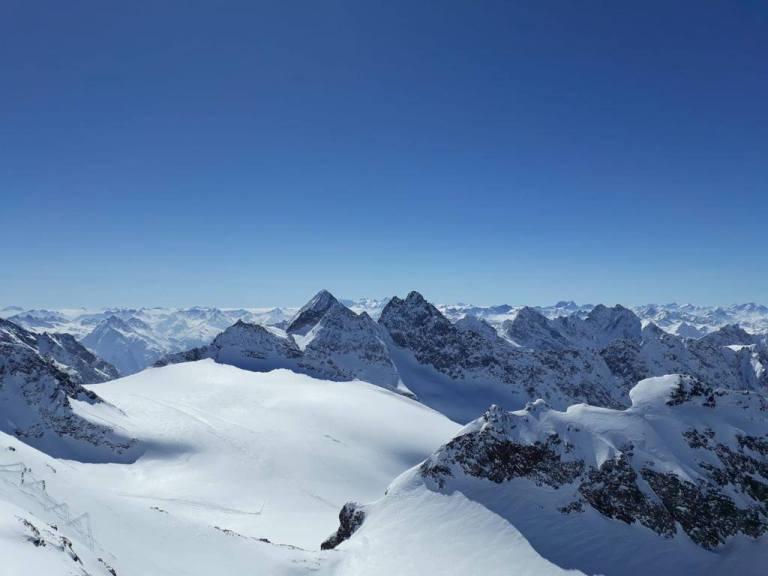 Ausblick Berge Montafon