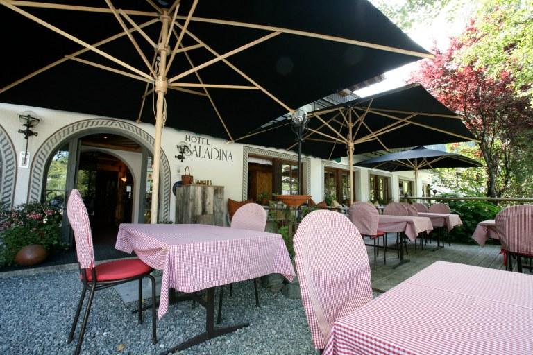 Terrasse Bio-Hotel Saladina