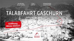 Neue Talabfahrt Gaschurn