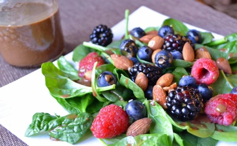 Summer Berry Balsamic Salad and #MotivateMe Monday