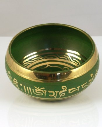 11cm Singing Bowl in Green