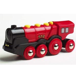 mighty red locomotive by Brio