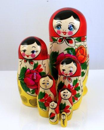 Matryoshka Russian Doll Set 7 pieces