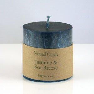 Jasmine and Sea Breeze Pillar Candle